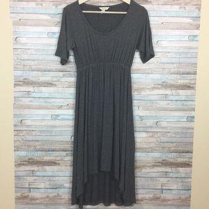 Soma cotton striped hi lo maxi dress